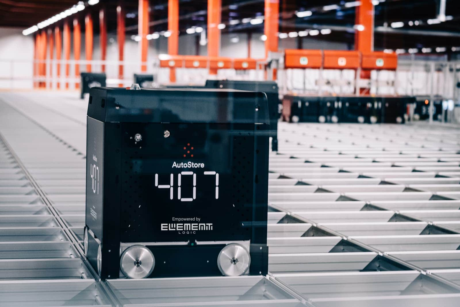AutoStore Black line B1 warehouse robot