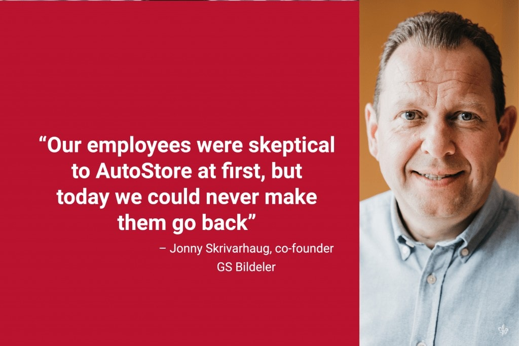 """Portrait photo of co-founder, Jonny Skrivarhaug, with caption """"Our employees were skeptical at first, but today we could never make them go back"""""""