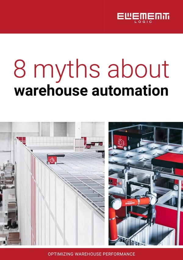 The front cover of the warehouse automation eBook.